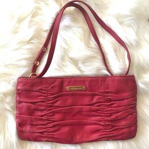 MIchael Kors Red/Fuchsia Patina Leather Clutch